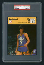 PSA 8 PETE MARAVICH Sportscaster Basketball Card #01-24 ITALY