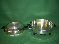 WEST BEND Society Liquid Oil Core Waterless Cookware Electric Skillet Frying Pan