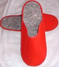 "Pantoffeln, Art ""Museumspantoffeln"" mit Filz- Sohle Rot"