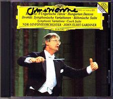 John Eliot GARDINER Signed DVORAK Symphonic Variations Böhmische Suite BRAHMS CD
