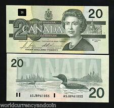 CANADA 20 DOLLARS P97 B/D 1991 QUEEN ELIZABETH BIRD UNC CURRENCY MONEY BANK NOTE