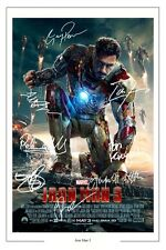 IRON MAN 3 CAST X 8 SIGNED PHOTO PRINT AUTOGRAPH POSTER ROBERT DOWNEY JR