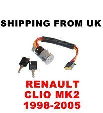 Commutateur d'allumage Lock Baril & Clés RENAULT CLIO MK2 2 II sans dispositif d'immobilisation