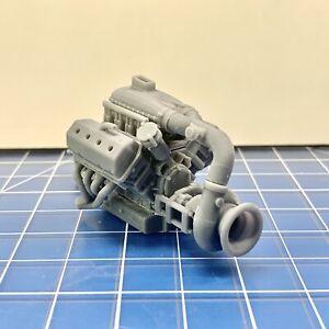 Resin Hemi Pro Line Mod Racing Turbo Procharged Motor Engine Kit 1/24 1/25