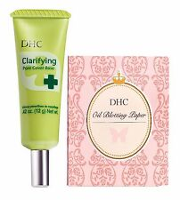 DHC Clarify Pore Cover Base 12 g & Blotting Paper 100 sheets, includes 4 samples