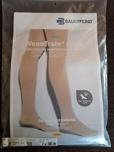 BAUERFEIND VenoTrain clinic medizinische Kompressionsstrümpfe Ccl2 L short Beige