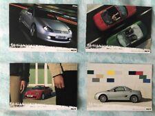 MG TF orig 2002 UK Mkt Postcard Full Set Of 4 -  Brochure Related