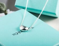 Elegant Fashion Lovely Bean Pendant Silver Chain Necklace Womens Charm Gift