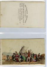 Italie, Naples Des marchands d'huitres CDV vintage albumen carte de visite,