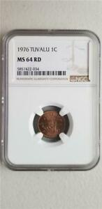 Tuvalu 1 Cent 1976 NGC MS 64 RD