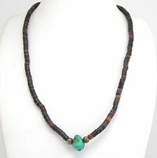 Vintage Santo Domingo Pen Shell & Turquoise Heishi Bead Necklace | G I