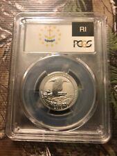 PCGS PR70 2018-S Block Island NP Silver Reverse Proof Quarter (b415)