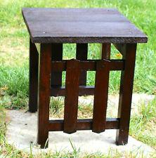 Antique Mission Oak End Side Table Stickley Roycroft Era c. 1915
