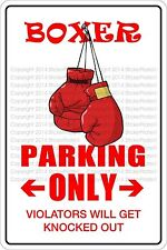 """*Aluminum* Boxer Parking Only 8""""x12"""" Metal Novelty Sign  NS 303"""