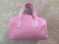 "Our Generation 18"" Inch Doll Fits American Girl Pink Faux Leather Purse Bag"