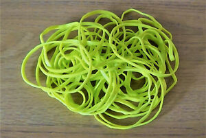 50 Bright YELLOW Rubber Bands (Elastic Bands Pack of 50)