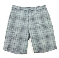 Nike Golf Men's Dri-Fit Tour Performance Golf Shorts Gray Plaid • Size 34