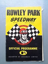 MEETING NUMBER 10 1964 - 1965 SEASON SPEEDWAY OFFICIAL PROGRAM ROWLEY PARK