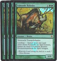 TCG 84 MtG Magic the Gathering Tobende Baloths Pre Release Promo Playset (4)