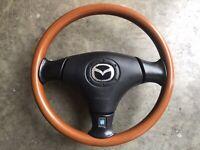 99-05 Mazda Miata SE MX-5 Nardi Wood Steering Wheel