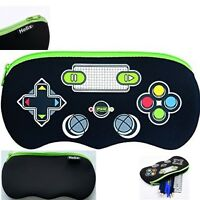 Helix Controller Pencil Case - Black Zipped School Stationery Kids New Bag Pouch