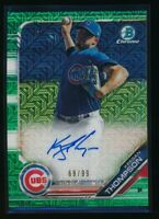 KEEGAN THOMPSON AUTO 2019 Bowman Chrome Mega Box Green Mojo Refractor #/99 RC
