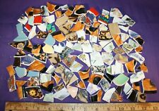 """Mosaic Tile by the pound broken china plates 1"""" mosiac crafts multi-color"""