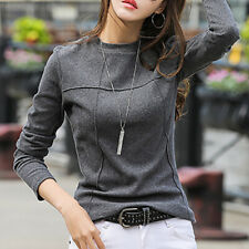 Cotton Wool T Shirt Women New Arrivals 2020 Winter Long Sleeve T-shirt Female