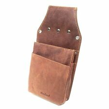 Real Leather Holster Waiter Wallet Coin Purse Bag Oil-Pull-Up