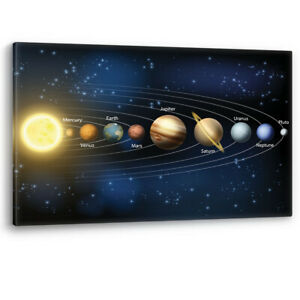 Solar System Sun and Planets Space Large Canvas Wall Art Picture Print A0