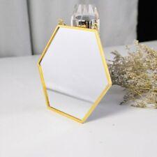 Nordic Minimalist Home Decoration Geometric Shape Gold Brass Hexagonal uU