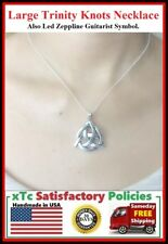 Large Celtic Triquerta Trinity Knot Charm Necklace. Irish Gift.
