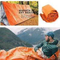 1x Outdoor Schlafschlafsack Thermal Survival Camping  Wasserdicht U1B3