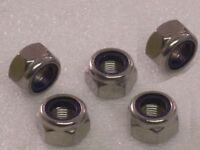 5x M12x1.25mm Metric Fine Stainless Steel Nyloc Nuts DIN985 Honda Kawasaki