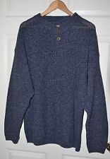 MENS Roundtree Yorke Sweater Knitted XL Blue-Gray Made in USA 100% Cotton