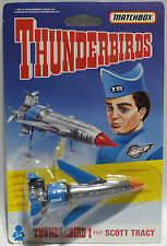 THUNDERBIRDS : THUNDERBIRD 1 CARDED DIE CAST MODEL MADE BY MATCHBOX IN 1992