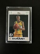 2007-08 Topps Kevin Durant #2 Rookie Card RC Seattle Supersonics White Border