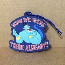 Disney Parks Aladdin Genie Wish We Were There Already Luggage Suitcase Bag Tag
