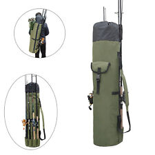 Outdoor Fishing Bag Rod Reel Portable Travel Organizer Tackle Tools Storage Case