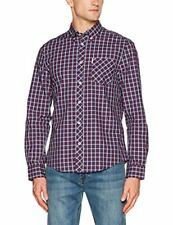 Ben Sherman LS House Check Camicia Uomo Red (red Dahlia) Medium