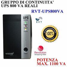 UPS Gruppo di Continuità 800VA Per Protezione DVR Ufficio Computer BACKUP