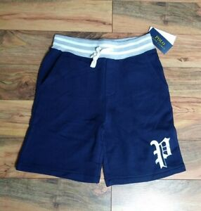 Polo Ralph Lauren Boys Navy Blue Shorts Size 10/12 Drawstring Waist Pockets NWT
