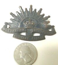 1914 World War I Australian Commonwealth Military Forces Rising Sun Badge