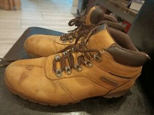 Vintage Timberland Man Leather Light Brown Color Boots Shoes Size 7.5