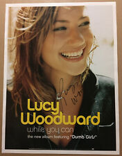 Lucy Woodward Rare 2003 Autographed Signed Promo Poster for While Cd Autograph