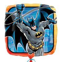 "Batman 17"" Square Foil Balloon - DC Superhero Birthday Party Decorations"