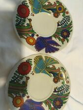 Vintage Vileroy & Boch Acapulco Two (2) Large Coffee Saucers.