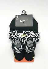 Nike Baby 2 Piece Gift Booties and Cap 0 to 6 Month Black White and Neon NWT