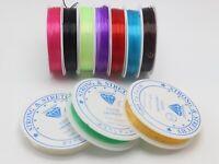 10 Rolls Colour Crystal String Stretch Elastic Beading Cord Thread 0.5mm-0.8mm
