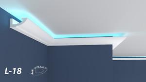 XPS Polystyrene LED Indirect Lighting Up lighter Lightweight Coving Cornice L-18